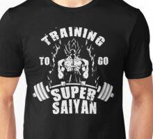 Training To Go Super Saiyan (Goku Grab Bar Deadlift) Unisex T-Shirt