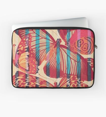 Butterflies in Strips Laptop Sleeve