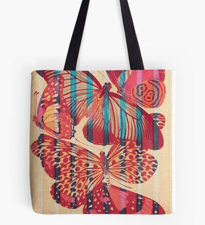 Butterflies in Strips Tote Bag