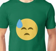 Face with cold sweat Unisex T-Shirt