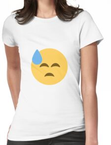 Face with cold sweat Womens Fitted T-Shirt