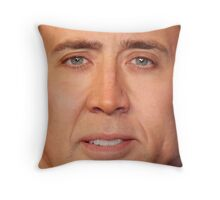 Nicolas Cage Face Throw Pillow V Throw Pillow