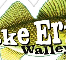 WALLEYE LAKE ERIE FISHING FISH GREAT LAKES BOAT BOATING OHIO MICHIGAN CANADA NEW YORK 2 Sticker