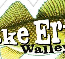 WALLEYE LAKE ERIE FISHING FISH GREAT LAKES BOAT BOATING OHIO MICHIGAN CANADA NEW YORK 2 Sticker