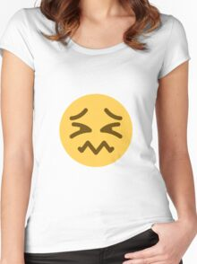 Confounded face Women's Fitted Scoop T-Shirt