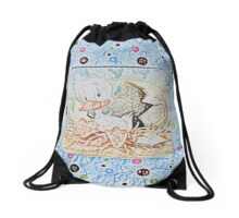 Baby Ducklin by Nikki Ellina Drawstring Bag