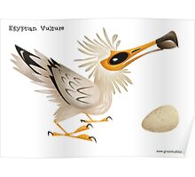 Egyptian Vulture caricature Poster