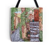 Ancient Crumbling Stone Steps Tote Bag