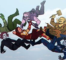 Free Falling Avengers by Cranity