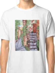 Ancient Crumbling Stone Steps Classic T-Shirt