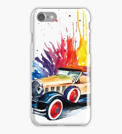Retro car iPhone Case/Skin