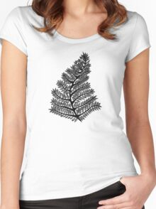 Fern Drawing Women's Fitted Scoop T-Shirt