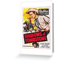 Vintage poster - Shadows of Tombstone Greeting Card