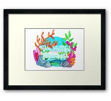 YOU BEAUTIFUL TROPICAL FISH Framed Print