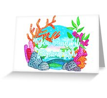 YOU BEAUTIFUL TROPICAL FISH Greeting Card