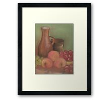 PEACHES, CHERRIES and some GRAPES Framed Print