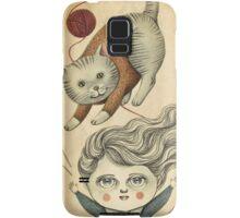 Kitty Knitting Samsung Galaxy Case/Skin