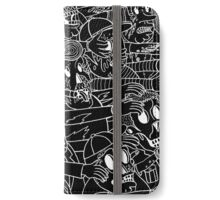 ZOMBIES! WHITE ON BLACK iPhone Wallet/Case/Skin