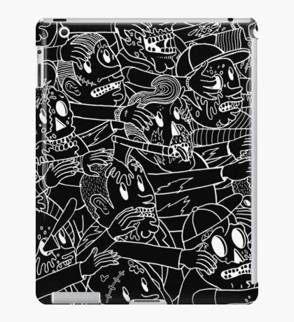 ZOMBIES! WHITE ON BLACK iPad Case/Skin