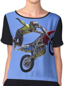 Bolddog Lings FMX Motorcycle Display Team Chiffon Top