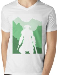 Dragonborn - Green Mens V-Neck T-Shirt