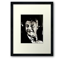 "Rodney Dangerfield Autographed Photo B/W ""Thanks Robert"" Framed Print"