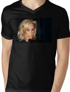 Blond Woman Mens V-Neck T-Shirt