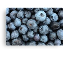 Many Blueberries. Canvas Print