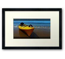 Flying on water Framed Print