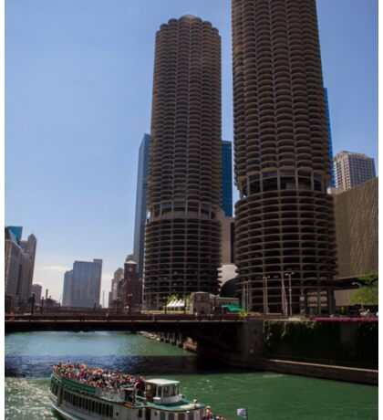 Marina Towers in Chicago Sticker