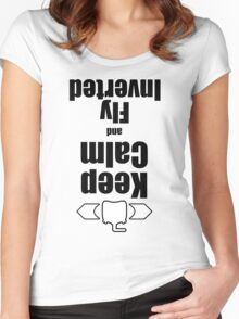 RC-Keep Calm Fly Inverted Women's Fitted Scoop T-Shirt