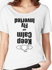 RC-Keep Calm Fly Inverted Women's Relaxed Fit T-Shirt