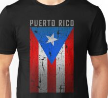Flag of Puerto Rico - Old Printing Style Unisex T-Shirt