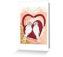 Love Birds Paper Collage Greeting Card