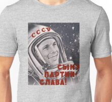 Gagarin Russia Space Astronaut Unisex T-Shirt