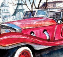 Retro car Sticker