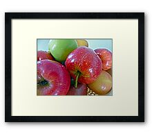 An apple a day...... Framed Print