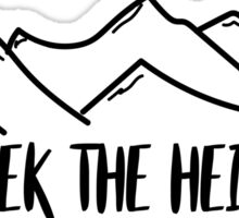 Seek The Heights Sticker