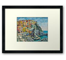 Cinque Terre by Chris Brandley Framed Print