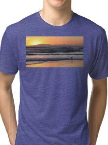 Sunset Waves Tri-blend T-Shirt