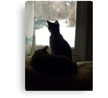 Kitty TV Canvas Print