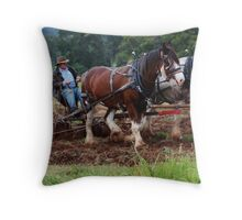Horse & Driver team. Throw Pillow