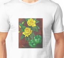 Yellow Roses With Green Peppers Unisex T-Shirt