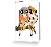 Lesser Kestrel caricature Greeting Card