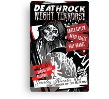 Poster for Deathrock Night Terrors II | Grim Reaper Canvas Print