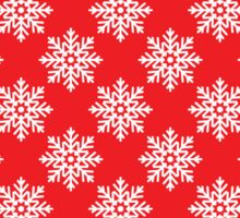 snowflake, Christmas, snow, holiday, new year, red, background Sticker