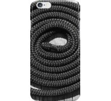 Dock Rope 2 Black and White iPhone Case/Skin