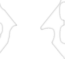 The Twin Blade Swordsman (White) Sticker