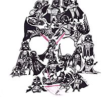 21 Darth Vaders by MaryDoodles