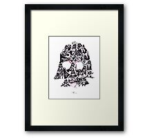 21 Darth Vaders Framed Print